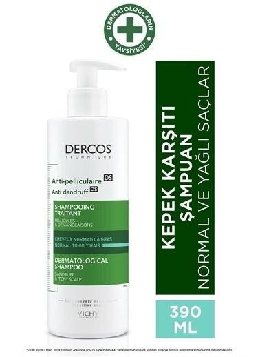 Vichy VICHY Dercos Anti-Pelliculaire (Anti-Dandruff) DS GRAS Normal to Oily Hair Shampoo 390 ml - Kepek (Normal, yağlı saç) Renksiz